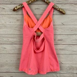 Lululemon criss cross strappy cutout back tank top